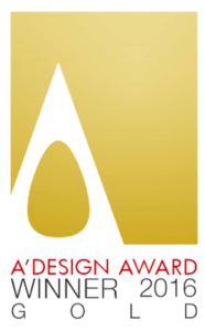 A'Design Award winner 2016 gold logo
